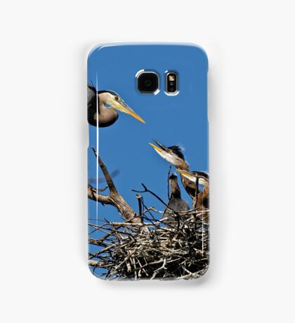 Great Blue Heron with Babies - Ottawa, Ontario Samsung Galaxy Case/Skin