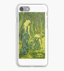 Two Girls Next To The Head Of Orpheus by Paul Ranson iPhone Case/Skin
