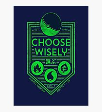 pokemon choose wisely Photographic Print