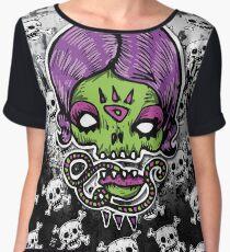 Purple Lady Skull Women's Chiffon Top