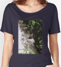 Butterfly on a flower Women's Relaxed Fit T-Shirt