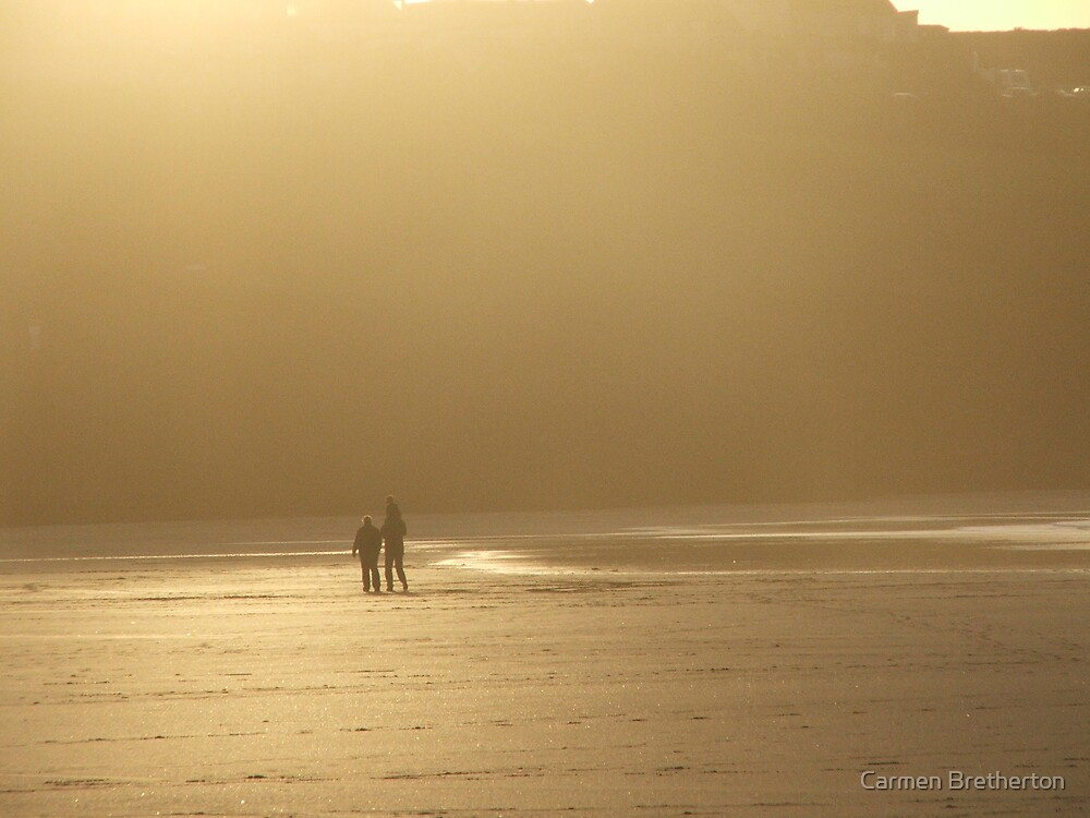 Lets go for a walk on the beach by Carmen Bretherton