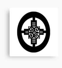 AFRICAN SUPER SYMBOL BY KCODE (INTELLIGENCE-STRNGTH-CREATIVITY-COMMITTMENT  Canvas Print