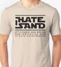 For sand haters (black) Unisex T-Shirt