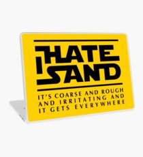For sand haters (black) Laptop Skin
