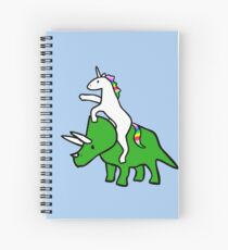 Unicorn Riding Triceratops Spiral Notebook