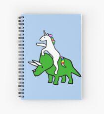 Cuaderno de espiral Unicorn Riding Triceratops