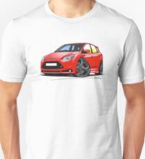 Ford Focus (Mk3) ST Red Unisex T-Shirt