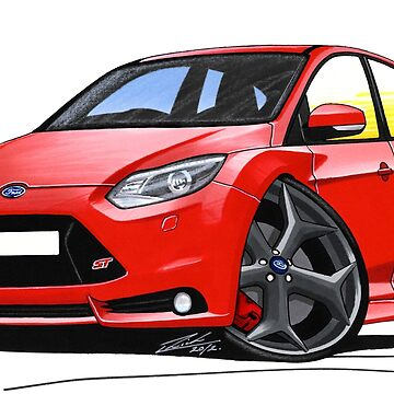 Ford Focus (Mk3) ST Red by yeomanscarart