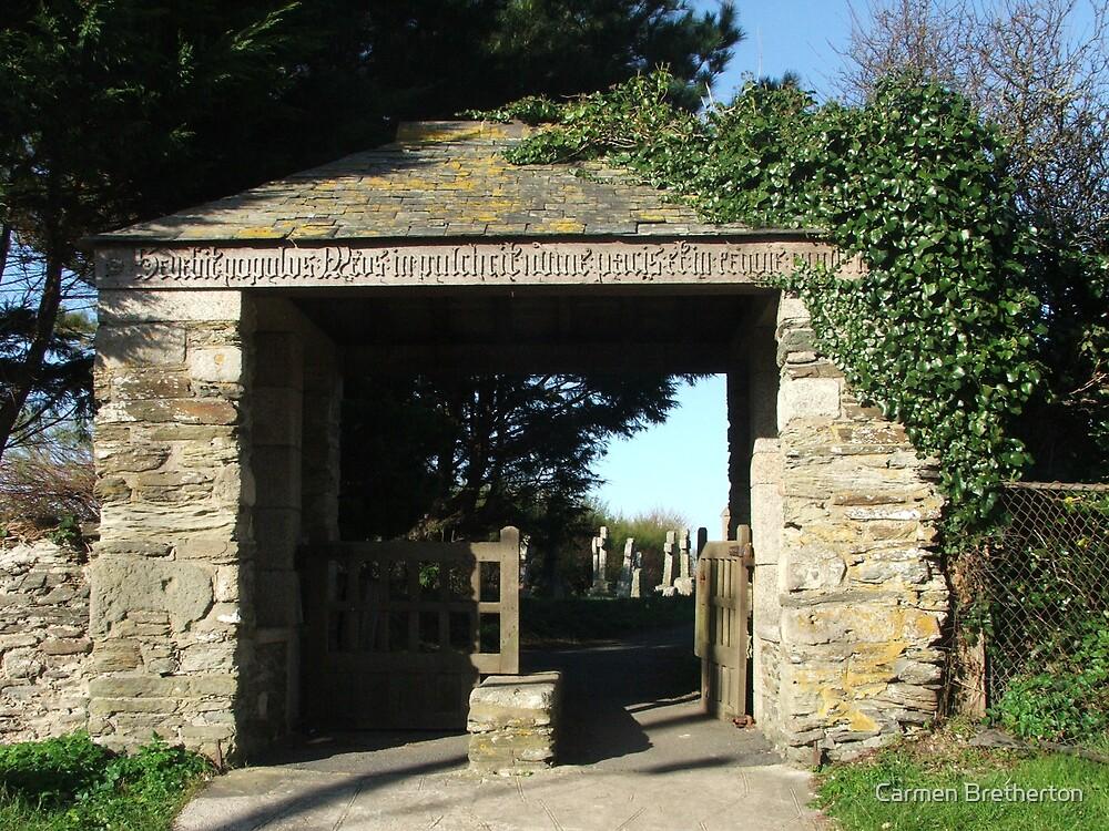 Church entrance by Carmen Bretherton