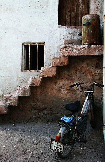 Bike And Stairs In Cappadocia by Josh Wentz