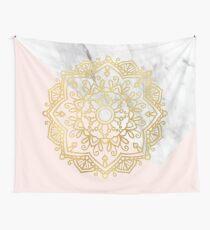 Vogue series - golden mandala Wall Tapestry
