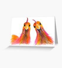 Hühner Hühner PRiNT 'HARRIET & HUMBUG 2' von Shirley MacArthur Grußkarte