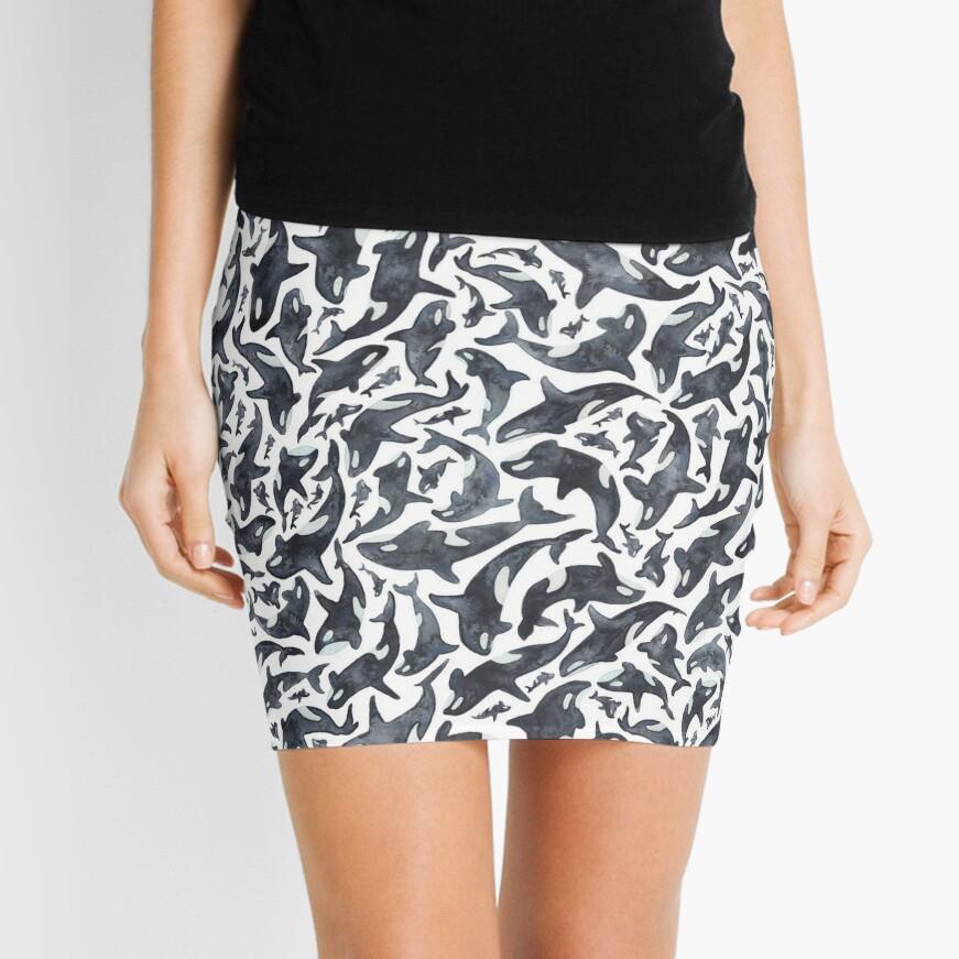 Orcas or Killer Whales Mini Skirt