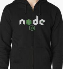 NodeJS JavaScript Programmer Zipped Hoodie