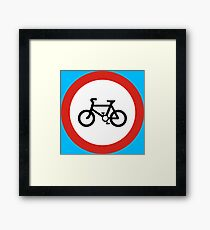 Cycling forbidden Framed Print