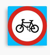 Cycling forbidden Canvas Print