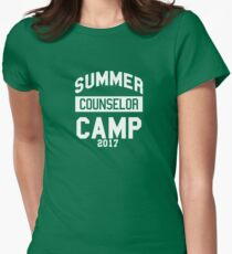 Best Ever Summer Camp 2017 T Shirt Unique Vacation Gift Idea Camp Counselor Womens Fitted T-Shirt