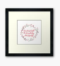 What if you fly |  Peter Pan | Movie Quote Framed Print