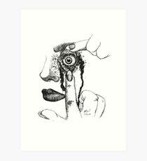 Bleeding Eye Art Print