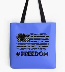 Freedom American Flag Independence Day Tote Bag