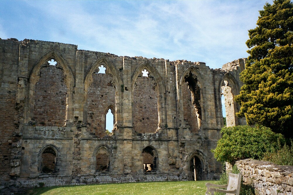 A different view of Easby Abbey by hilarydougill