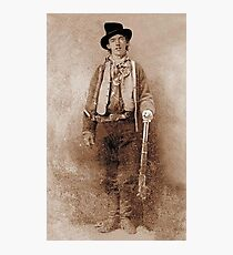 WANTED, Billy the Kid, Henry McCarty, William H. Bonney, Cowboy, American, Outlaw, Wild West Photographic Print