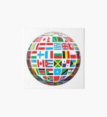 World, Flags of the Globe, Flags, Globe, Peace, Global Art Board