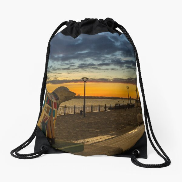 A Scouse Stand-Off At Dusk Drawstring Bag