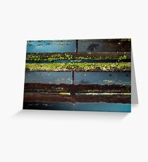 Peatland Abstract 7 Greeting Card