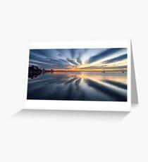 0502 New Dawn - Geelong Corio Bay Greeting Card