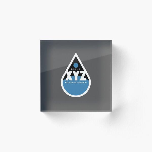 Drink XYZ - Bottled on Twin Earth Acrylic Block