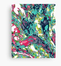 Superbright Oil spill Canvas Print