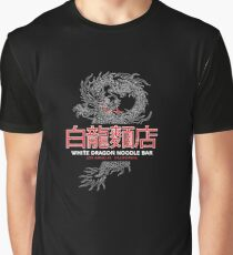 White Dragon Noodle Bar - ½ White Cut Cantonese Variant Graphic T-Shirt