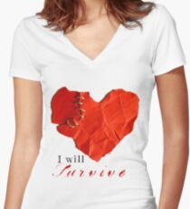 I will survive Women's Fitted V-Neck T-Shirt
