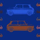 Vintage Cars Blue & Orange by emilypigou