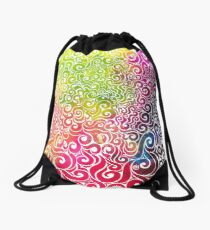 Swirly Portrait Drawstring Bag