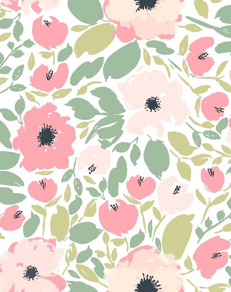 Bright Playful Pink Anemone Print  by LThomasDesigns