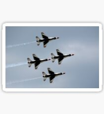 The U.S. Air Force Thunderbirds fly in formation. Sticker