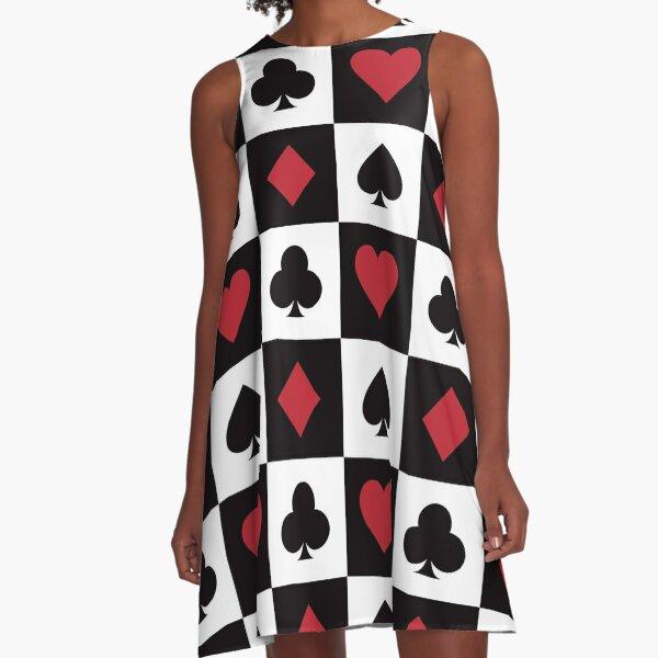 Card Pattern - Red Queen A-Line Dress