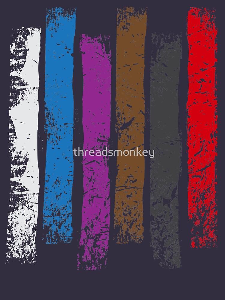 BJJ Belt Rank Vertical Stripes Shirt for Jiu Jitsu by threadsmonkey