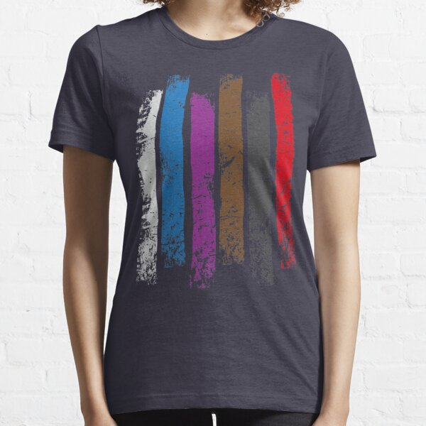 BJJ Belt Rank Vertical Stripes Shirt for Jiu Jitsu Essential T-Shirt