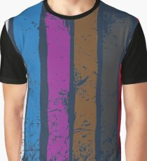 BJJ Belt Rank Vertical Stripes Shirt for Jiu Jitsu Graphic T-Shirt