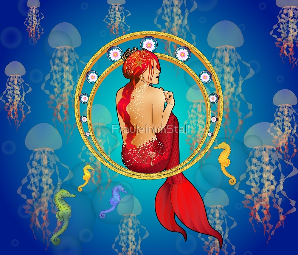 The mermaid and the sea horses by FrauleinimStall