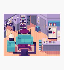 Jerry Seinfeld Apartment 5A Isometric Photographic Print