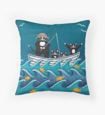 Fishing Trip with Dad Throw Pillow