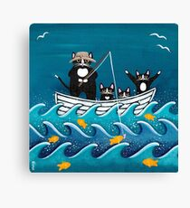 Fishing Trip with Dad Canvas Print