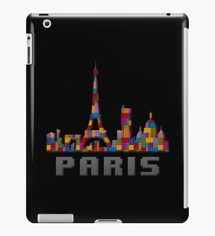 Paris Skyline Made With Lego Like Blocks iPad Case/Skin