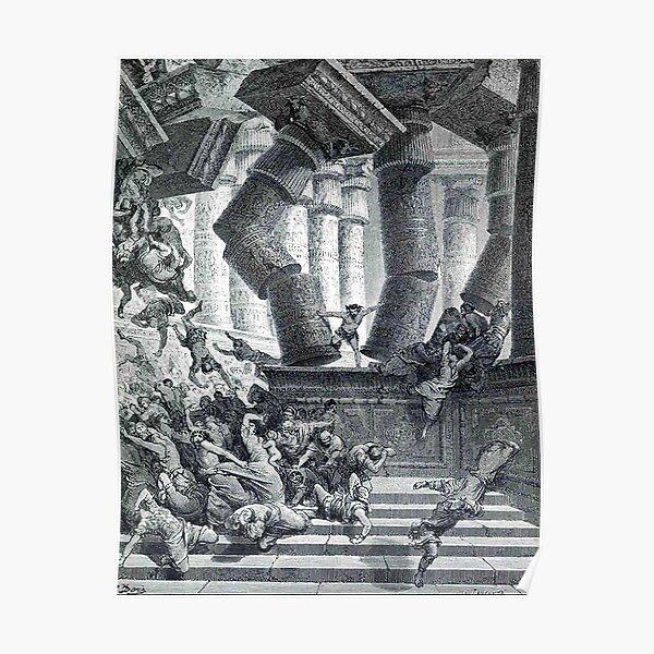 SAMSON. Gustave Dore, Death Of Samson, man of the sun. Poster
