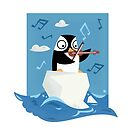 South Pole Musical Penguin by A4man Artist